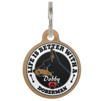 Personalized Life Is Better With A Doberman Pet ID Tag