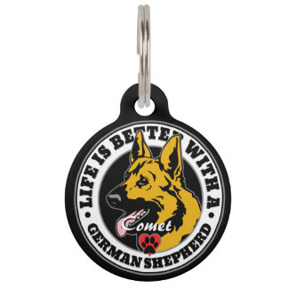 Personalized Life Is Better With A German Shepherd Pet Tag