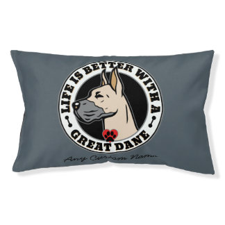 Personalized Life Is Better With A Great Dane Dog Bed