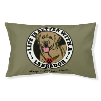 Personalized Life Is Better With A Tan Labrador Dog Bed