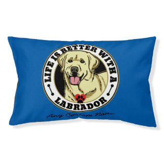 Personalized Life Is Better With A White Labrador Dog Bed