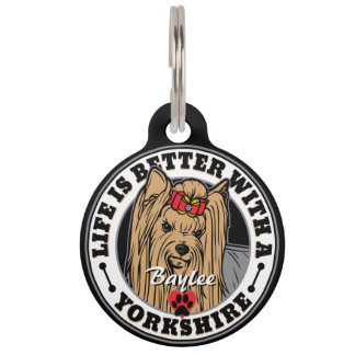 Personalized Life Is Better With A Yorkshire Pet ID Tag