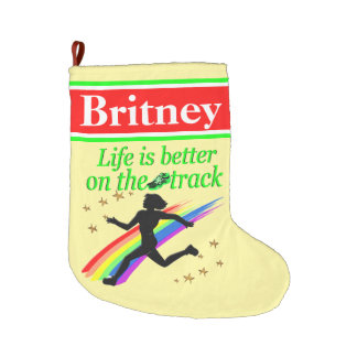 PERSONALIZED LIFE ON THE TRACK CHRISTMAS STOCKING