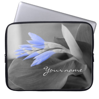 Personalized Light Blue Buds selective color Laptop Sleeve