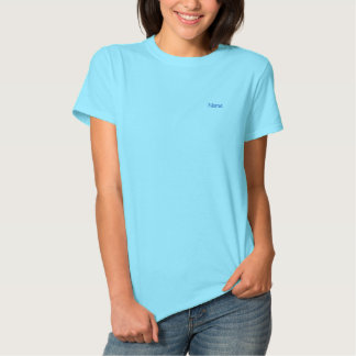 Personalized Light Blue Custom Embroidered Shirt