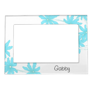 Personalized Light Blue Daisies Picture Frame