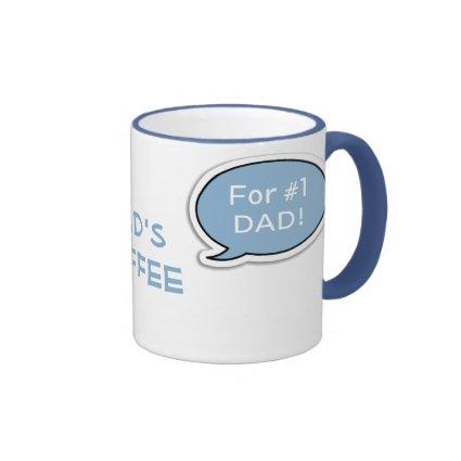 Personalized Light Blue Speech Bubble Coffee Mug Ringer Mug