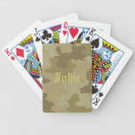 Personalized Light Camouflage Playing Cards