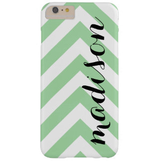 Personalized Light Green and White Arrow Chevron Barely There iPhone 6 Plus Case