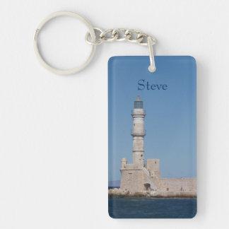 Personalized Lighthouse Keychain