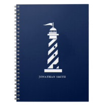 Personalized Lighthouse Spiral Notebook