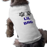 Personalized LIL BRO Dog Paws Shirts for Dogs