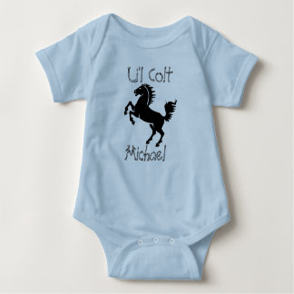 """Personalized """"Li'l Colt""""  With Rearing Horse Baby Bodysuit"""
