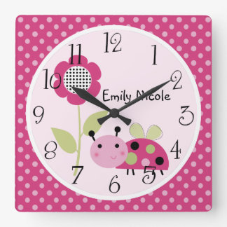 Personalized Lil Little Ladybug Nursery Clock