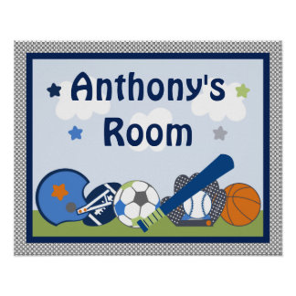 Personalized Lil/Little Sports Player Poster/Print