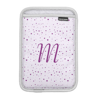 Personalized Lilac and Purple Spotty Sleeve For iPad Mini