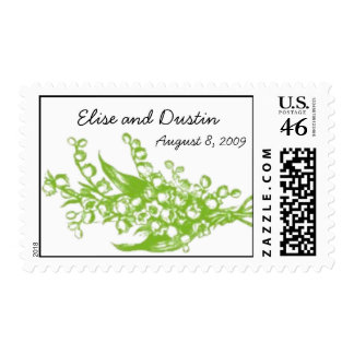 Personalized Lily of the Valley Stamp