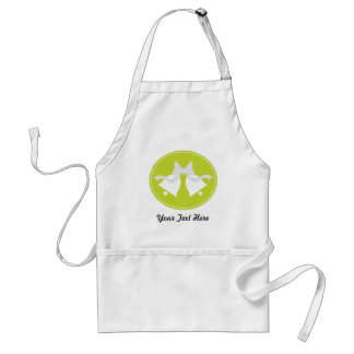Personalized Lime Green Wedding Bells Adult Apron