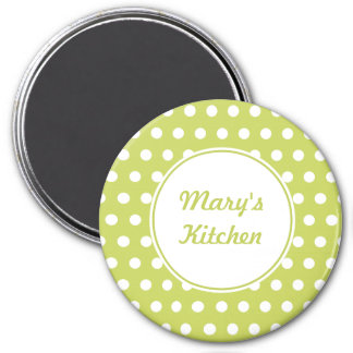 Personalized Lime Kitchen Magnet