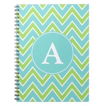 Beach Themed Personalized Lime Monogram Notebook Journal Gift