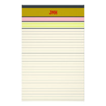 Personalized Lined Stationery Multi-width Ruled