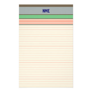 Personalized Lined Stationery Multi-width Ruled 2