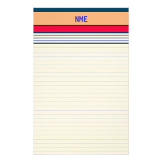 Personalized Lined Stationery Multi-width Ruled 3