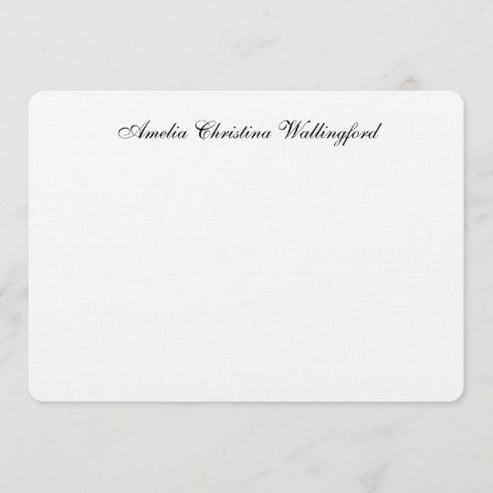 personalized linen flat note card - Personalized Flat Note Cards