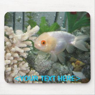 Personalized Lionhead Fancy Goldfish Mouse Pad