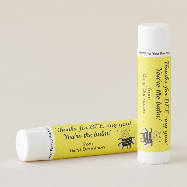 Personalized Lip Balm Party Favors Cute Honeybee