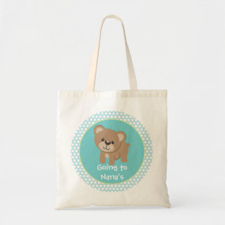 Personalized Little Bear Going to Nana's Tote Bag