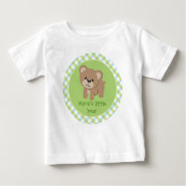 Personalized Little Bear - Nana's Little Bear Baby T-Shirt