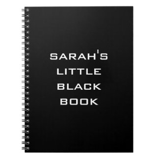 Personalized Little Black Book Notebook