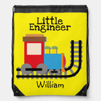 Personalized Little Engineer Drawstring Bag