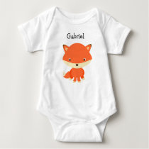Personalized little Fox One Piece Baby Tee