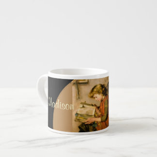Personalized Little Girl  Reading Mug