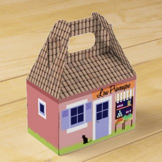 Personalized Little House of Provence Favor Box