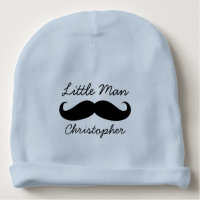 Personalized Little Man Mustache Cute Baby Boys Baby Beanie