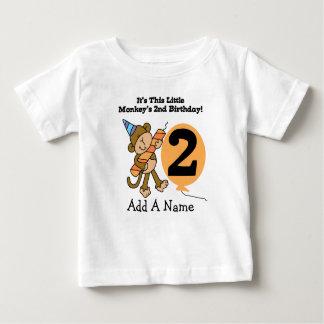 Personalized Little Monkey 2nd Birthday T-shirt