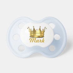 Personalized Little Prince Crown Pacifier at Zazzle