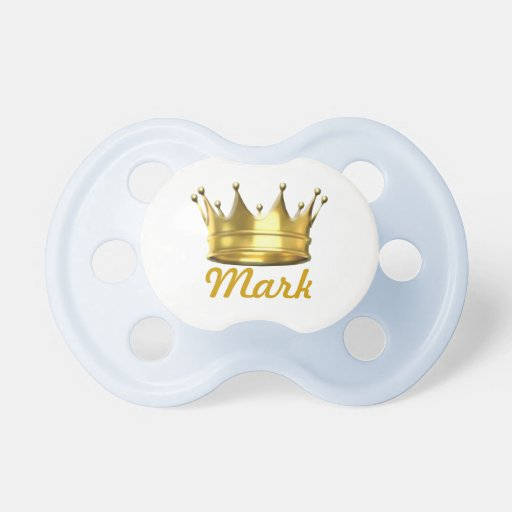 Personalized Little Prince Crown Pacifier Booginhead Pacifier