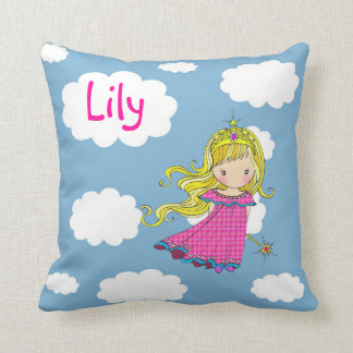 Personalized Little Princess Throw Pillow