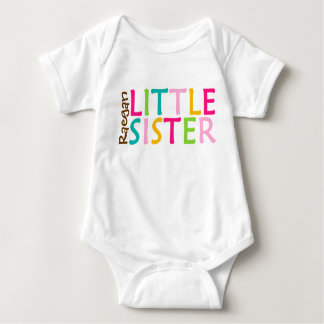 Personalized Little Sister Baby One Sie Body Suit Tee Shirt