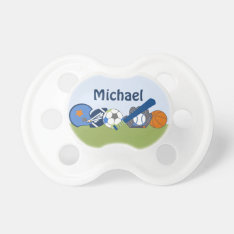 Personalized Little Sports Player Pacifier at Zazzle