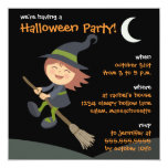 Personalized Little Witch Halloween Party Invites
