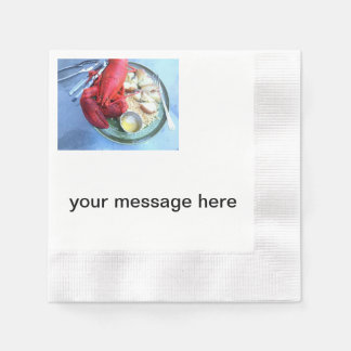 personalized lobster napkins