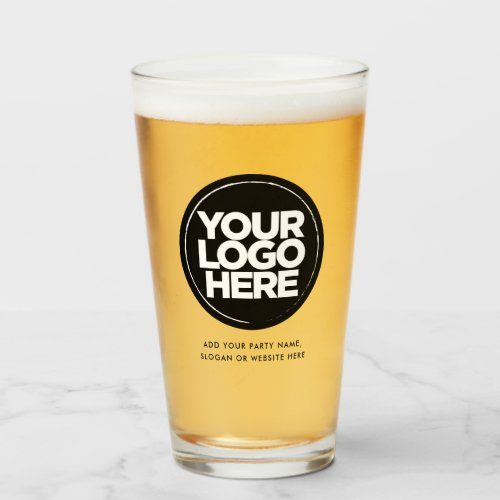 Personalized Logo and Text Beer Glasses