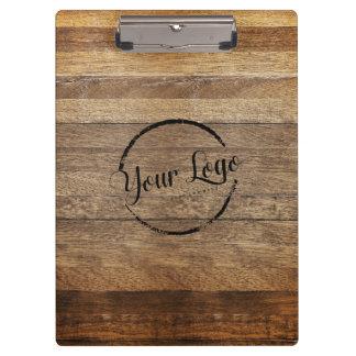 Personalized logo woodgrain clipboard