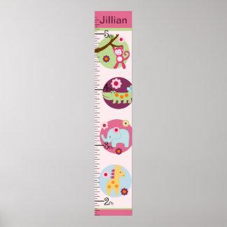 Personalized Lollipop Jungle/Animals Growth Chart