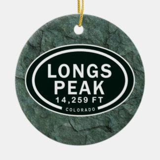 Personalized Longs Peak Colorado Rocky Mountain Ceramic Ornament